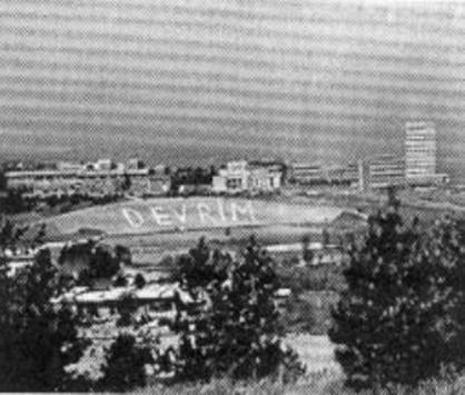 ODTü Stadı DEVRİM Yazısının İlk Günleri